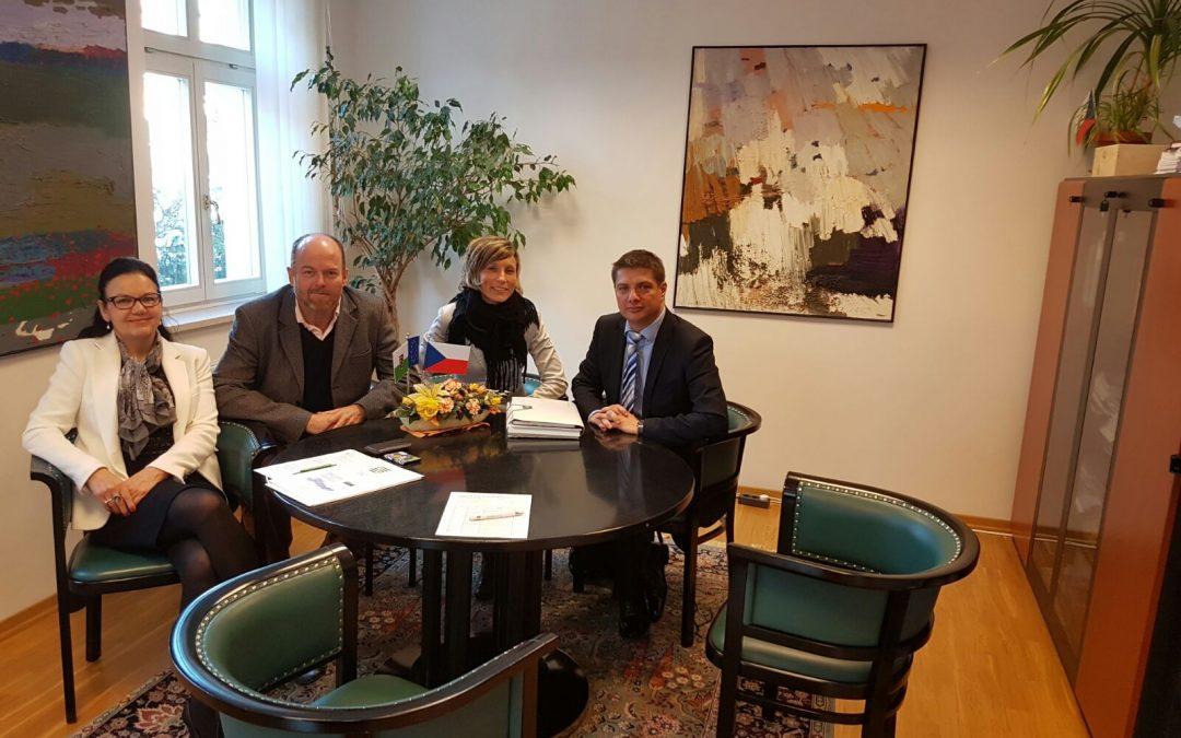 Setkání s generálním konzulem ČR v Drážďanech PhDr. Jiřím Kudělou, PhD.
