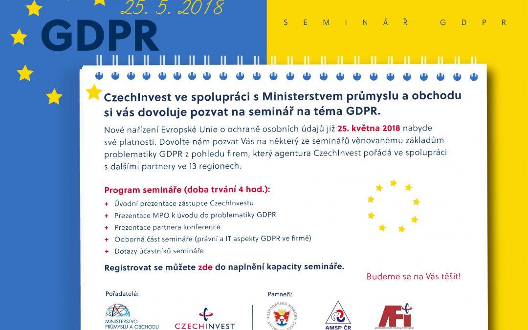 Pozvánka na seminář GDPR
